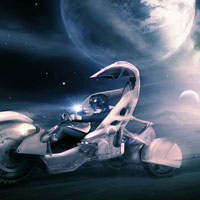 Create a Sci-Fi Racing Driver Scene (Using Innovative Photoshop Techniques)