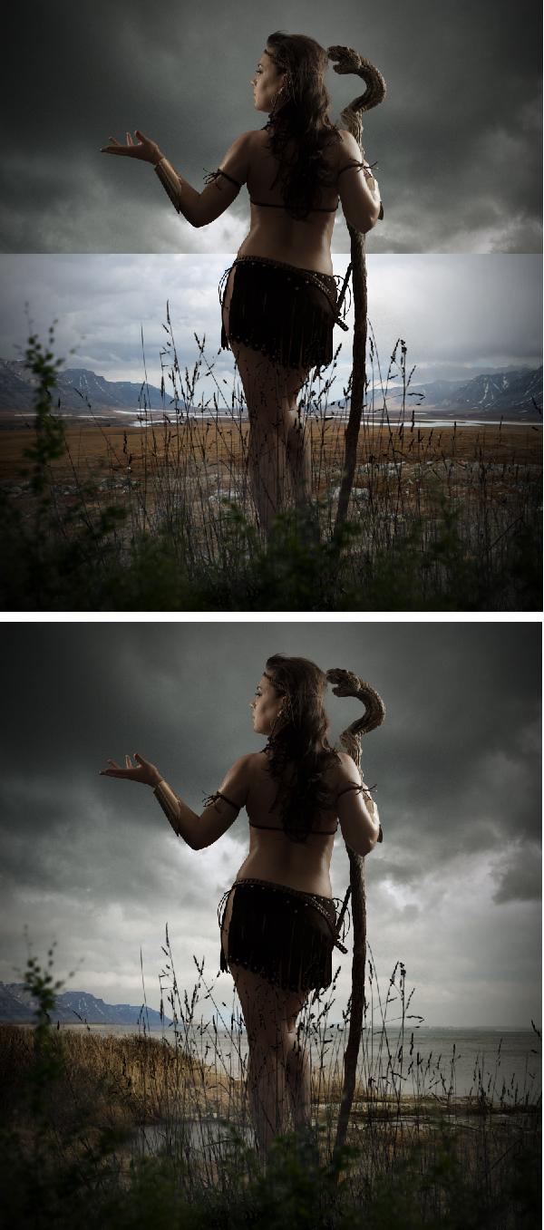 使用照片制作一个神秘的部落战士 - 孔老师博客 - 孔老师博客