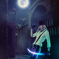 Create a Dark Night Hunter Scene with Photoshop